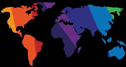מפת העולם צבעונית