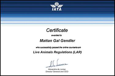 LAR Certificate