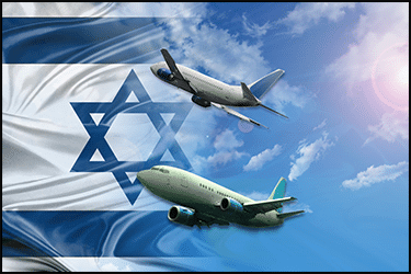 מטוסים בשמיים לכיוון ישראל