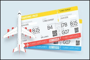 כרטיסי טיסה עם מטוס קטן