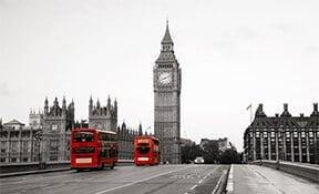ביג בן ואוטובוסים בלונדון, אנגליה