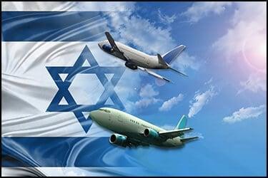 2 מטוסים לכיוון דגל ישראל