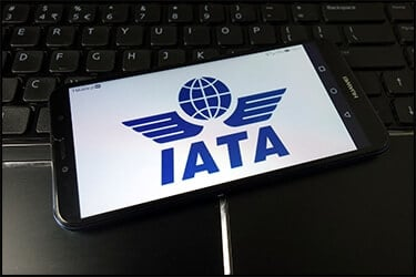IATA logo on mobile phone